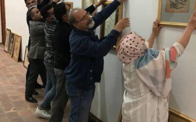 گزارش تصویری چیدمان آثار راه یافته به نمایشگاه ششمین دوسالانه خوشنویسی